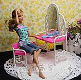 Мебель для кукол - столик с зеркалом и стул, фото 6