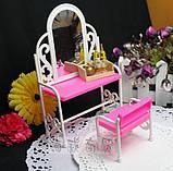 Мебель для кукол - столик с зеркалом и стул, фото 3