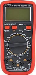 Мультиметр цифровой тестер UT61A, красный