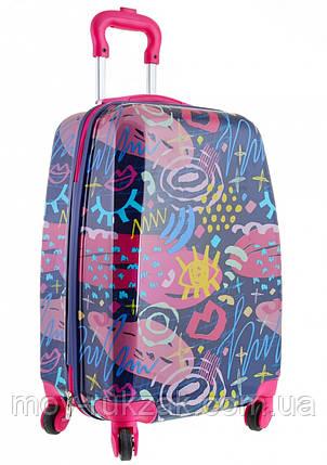 Детский чемодан дорожный на колесах «YES» Graffity, фото 2