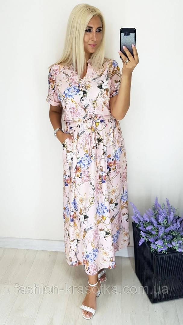 Модное женское легкое платье,ткань супер софт,размеры:52,54,56,58.