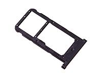 Лоток для сим карты и карты памяти для Huawei P Smart Plus (INE-LX1), черный