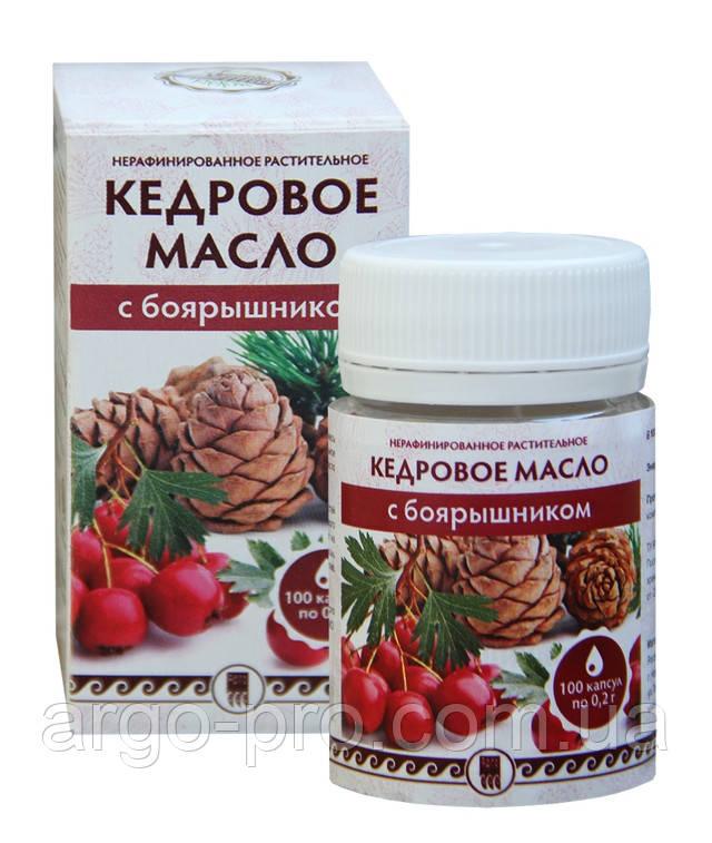 Кедровое масло с боярышником Арго для сердца, сосудов, давление, кардионевроз, дистония, витамины, Омега 3,6,9