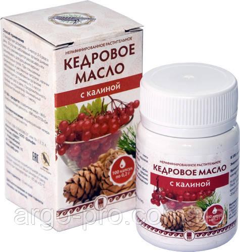 Кедровое масло с калиной, Витамин Е Арго, для кожи, суставов, хрящей, иммунитет, атеросклероз, витамины, омега