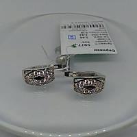Красивые серебряные серьги