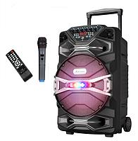 Акумуляторная колонка с микрофоном UF-1318AK 200W (FM/USB/Bluetooth)/видео обзор, фото 1