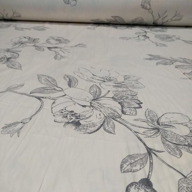 ткань сатин цветы Пакистан 220