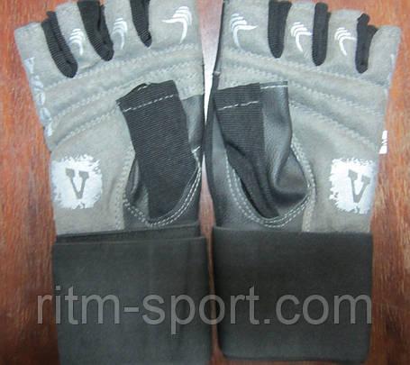 Перчатки тяжелоатлетические VELO VL-8114 с напульсником, фото 2