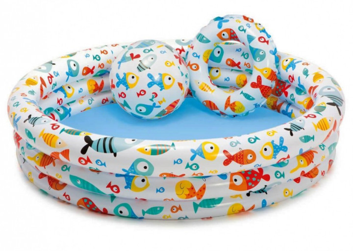 """Бассейн с мячом и кругом Intex """"Fishbowl Pool Set"""" 204л, 132х28см."""