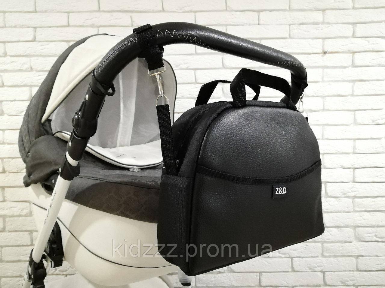 Сумка на коляску универсальная Z&D New Еко кожа (Черный)