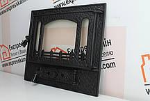"Дверцы для камина печи со стеклом ""PANORAMA"" 590x510mm, фото 2"