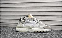 Мужские кроссовки Adidas Originals Nite Jogger White Gray топ реплика
