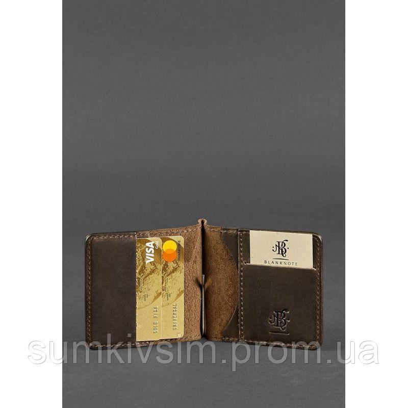Зажим для денег из натуральной кожи цвет - коричневый