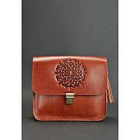 Бохо-сумка Лилу коньяк - коричневая
