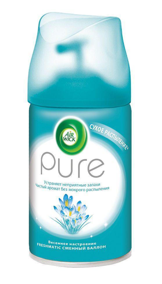 """Освежитель воздуха Air Wick Freshmatic Pure """"Весеннее настроение"""", сменный баллон (250мл.)"""