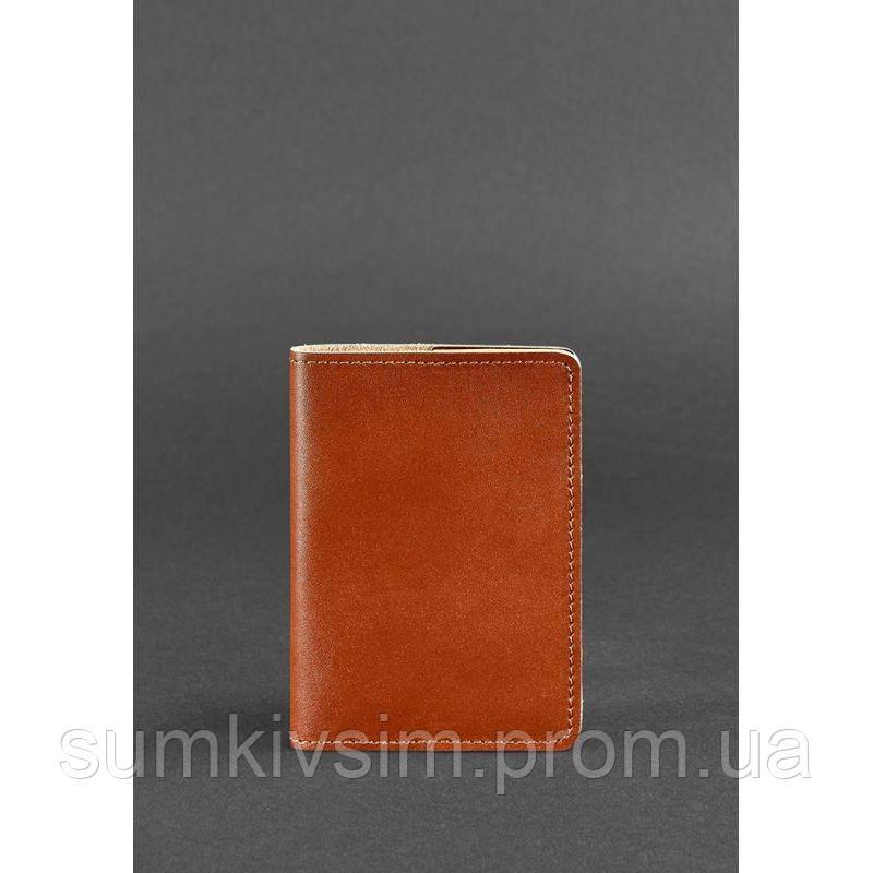 Обложка для паспорта 1.3 Коньяк - коричневый