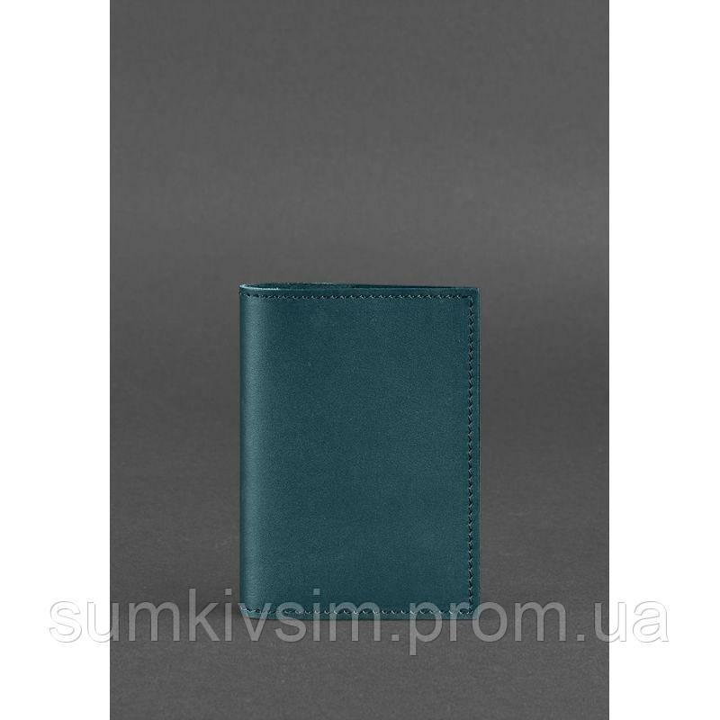 Обложка для паспорта 1.2 Малахит - зеленый