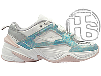 Женские кроссовки Nike M2K Tekno White Blue AO3108-103