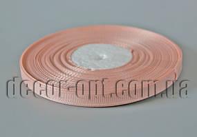 Лента репсовая оттенок персиковой 0,6 см 25 ярд арт.213