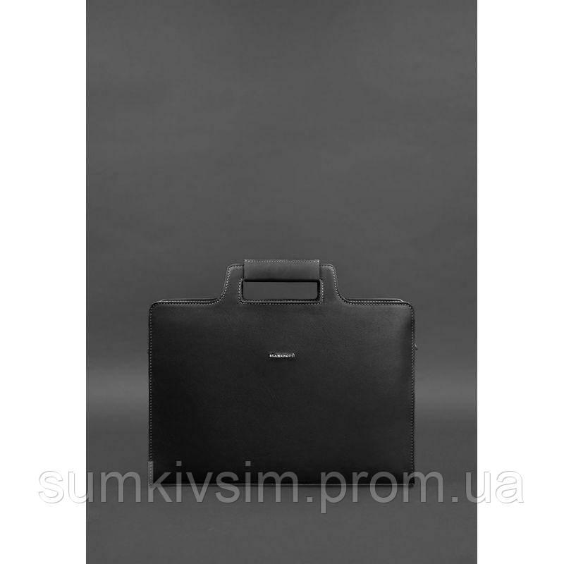 Женская сумка для ноутбука и документов графит - черная