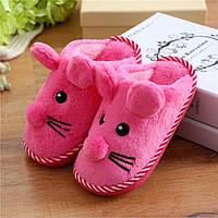 Детские тапочки теплые мышки
