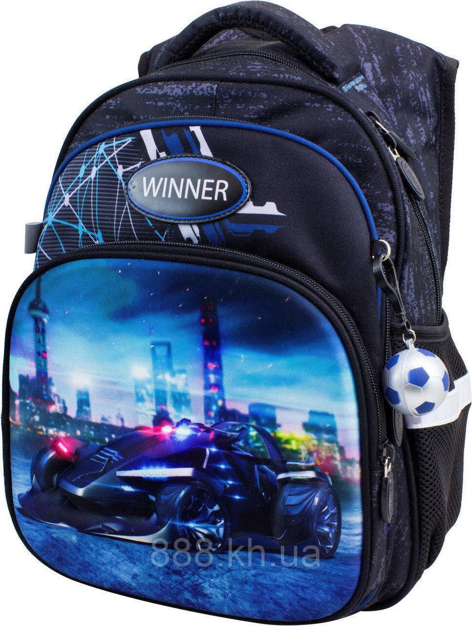 Школьный портфель с дышащей спинкой winner, рюкзак ортопедический, портфель с объемным рисунком, фото 1
