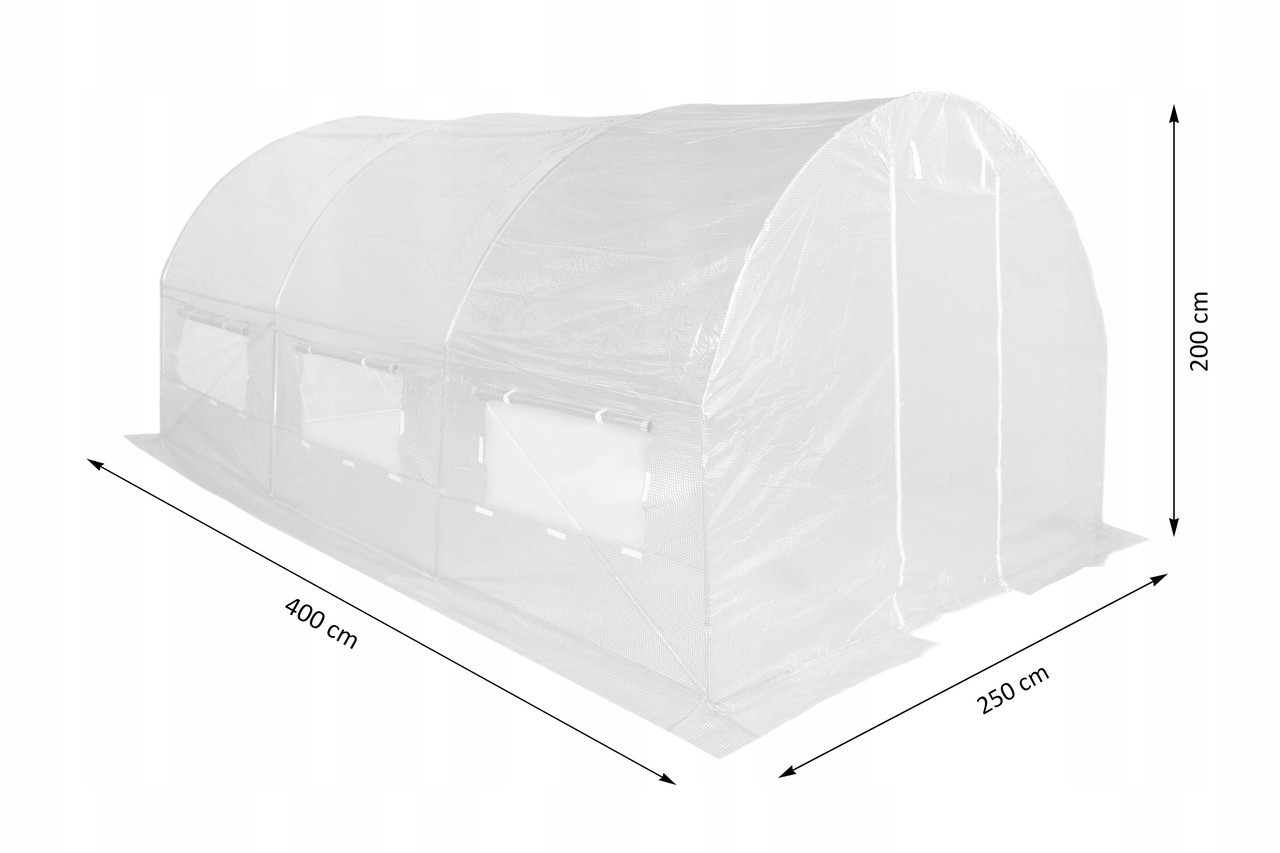 Садовая теплица 2,5x4х2 м =10м2