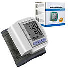 Цифровой тонометр на запястье Blood Pressure Monitor CK-102S / аппарат для измерения давления и пульса, фото 2