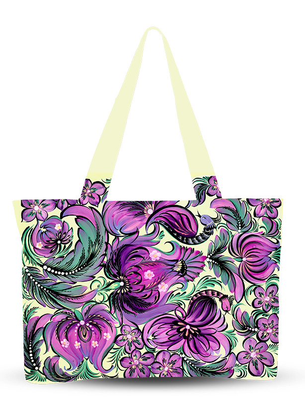 Сумка летняя Фиолетовые цветы