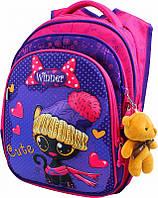 Школьный портфель с дышащей спинкой winner, рюкзак ортопедический для девочек с объемным рисунком, фото 1