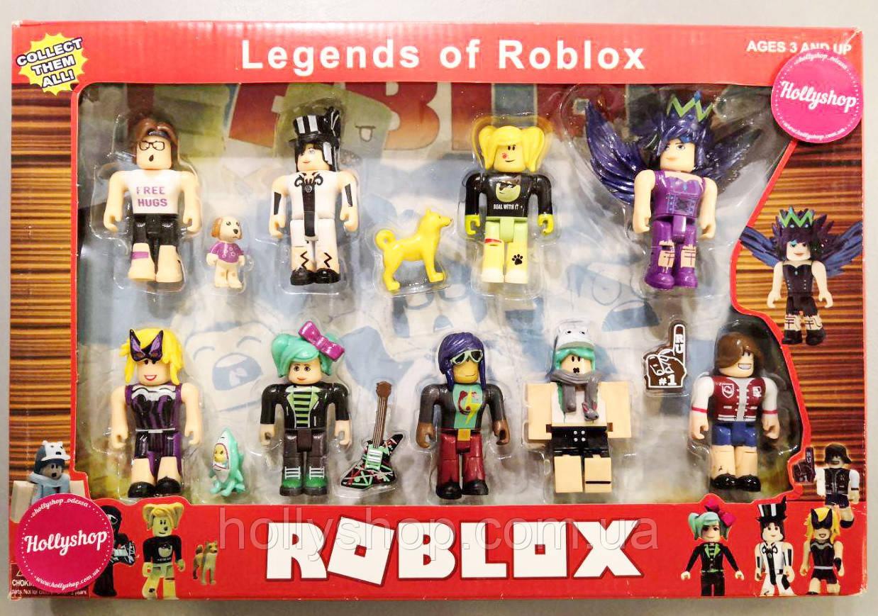 """Роблокс Набор из 9 фигурок Roblox """"Legends of Roblox"""""""