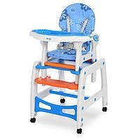 Стульчик для кормления Bambi (M 1563-1-4) 3 в 1: стульчик для кормления / столик / качалка, фото 1