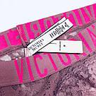 💋 Кружевные Трусики Victoria's Secret The Lacie Logo Cheeky Panty M, Пепельная Роза, фото 6