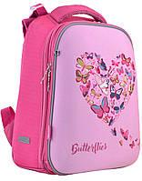 Ортопедический рюкзак розового цвета с принтом Delicate butterflies 38*29*15