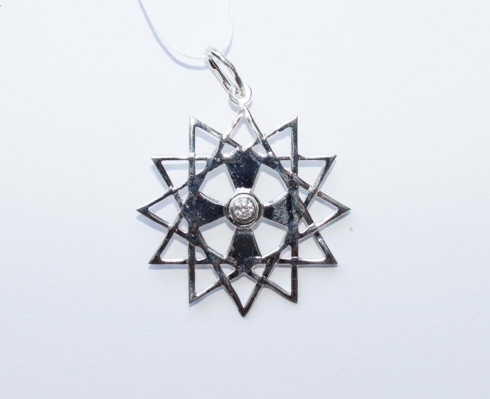Медальон звезда Эрцгамма серебро