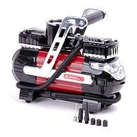 Компрессор автомобильный 12В. Два цилиндра 30 мм, Intertool, AC-0003