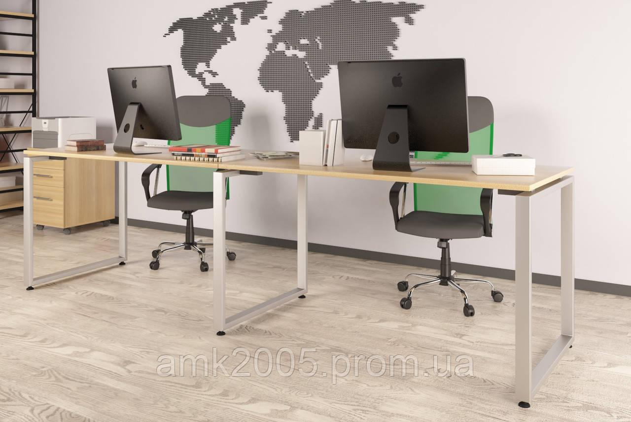 Двойной письменный стол Loft design Q-135-2 Дуб Борас