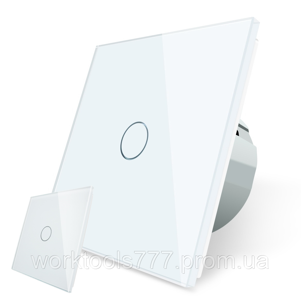Сенсорний прохідний вимикач без проводів Livolo білий (VL-C701R-C701RMT-11)