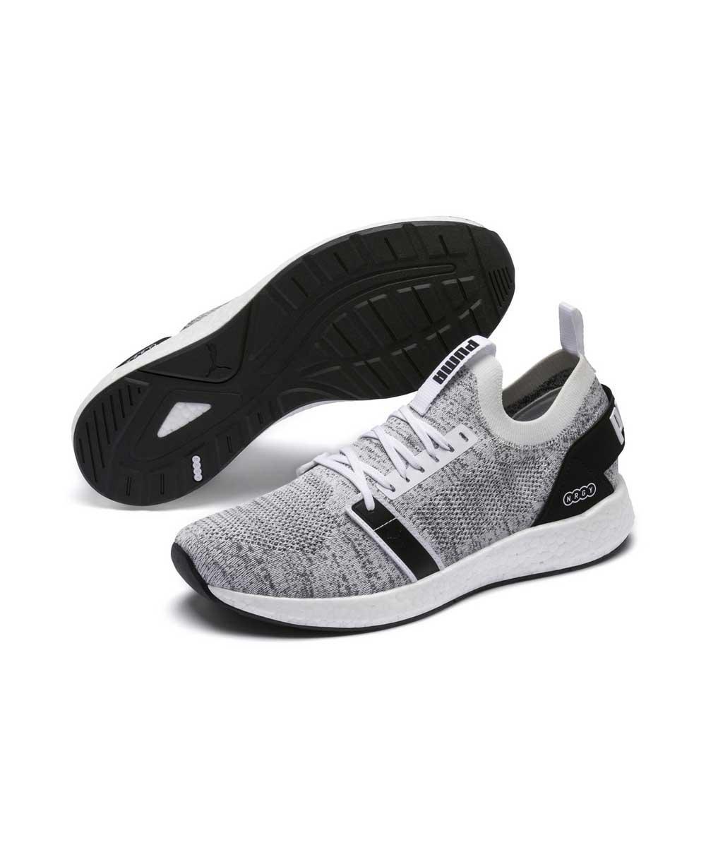 Серые мужские беговые кроссовки Puma NRGY Neko Engineer Knit Men's Running Shoes