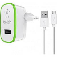 Зарядное устройство Belkin USB Home Charger (2.4Amp) w/cable Micro-USB,WHT (F8M886vf04-WHT)