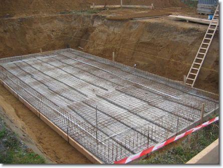 Фундамент монолитная плита (монолитный фундамент)+