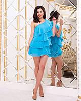 Легкое летнее женское платье со вставками из рюшей. Арт-2654/23, фото 1
