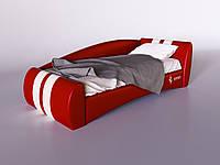 "Кровать подростковая мягкая ""Формула"" красная. Ліжко підліткове м'яке ""Формула"" червоне"