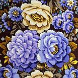 Павловопосадский 1816-16, павлопосадский платок (шаль) из уплотненной шерсти с шелковой вязанной бахромой, фото 4