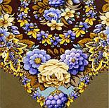Павловопосадский 1816-16, павлопосадский платок (шаль) из уплотненной шерсти с шелковой вязанной бахромой, фото 6