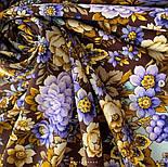 Павловопосадский 1816-16, павлопосадский платок (шаль) из уплотненной шерсти с шелковой вязанной бахромой, фото 7