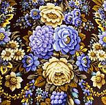 Павловопосадский 1816-16, павлопосадский платок (шаль) из уплотненной шерсти с шелковой вязанной бахромой, фото 5