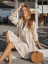 """Асимметричное расклешенное платье """"SOFER"""" с оборками (3 цвета), фото 3"""