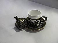Турецкая чашка для кофе Цвет: Бронза 50 мл