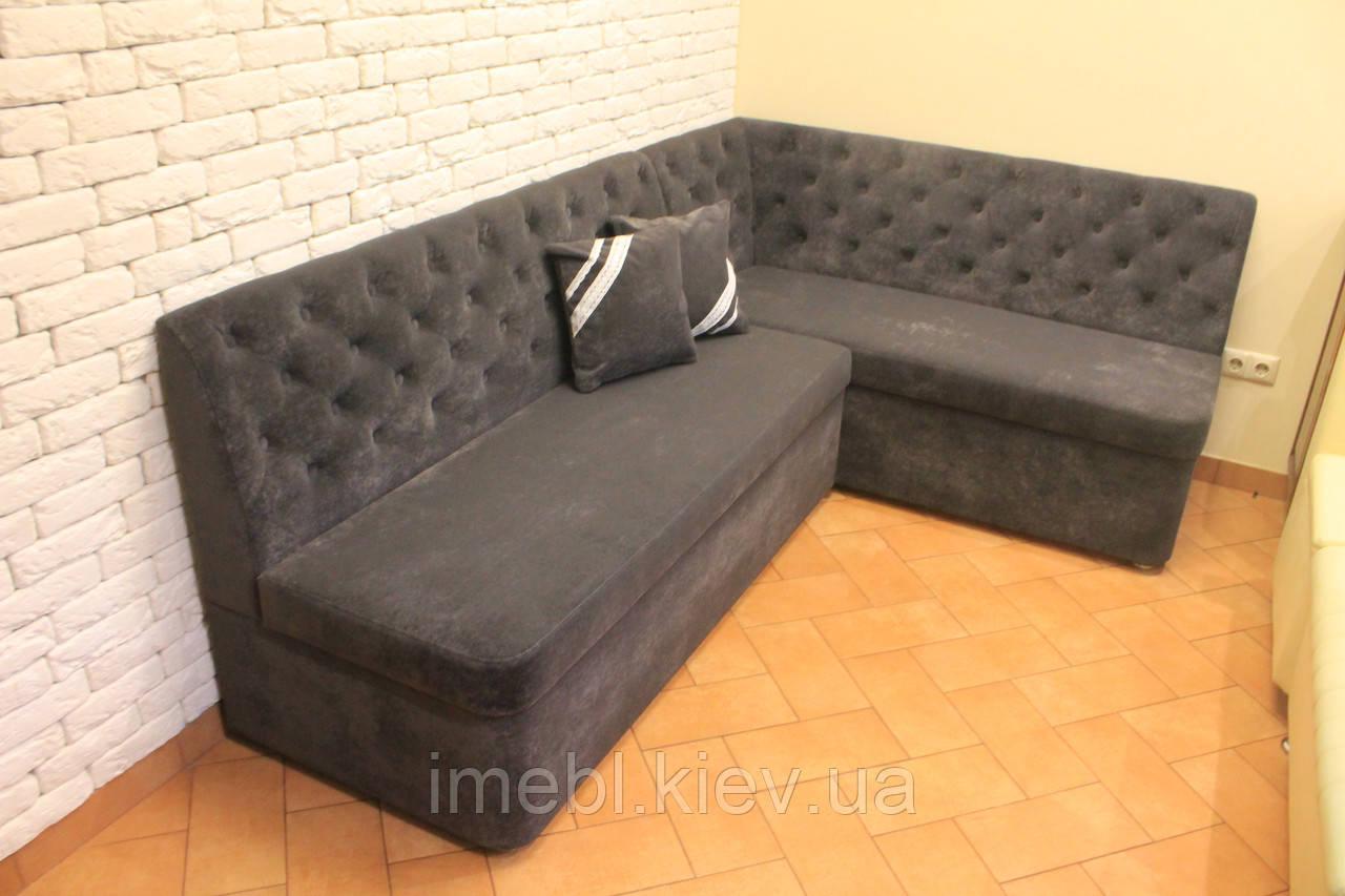 Кухонный диван с ящиками (Серый)